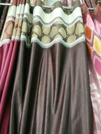 Attractive Brown Printed Curtain