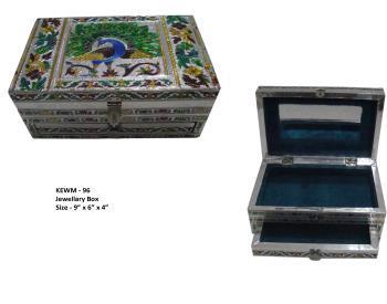 Handmade Meenakari Square Jewelery Box