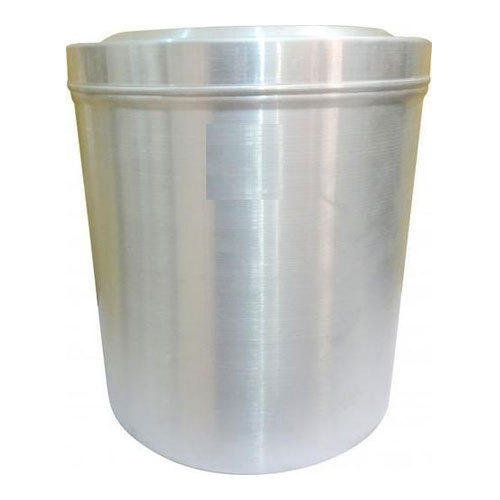 Silver Pure Aluminium Metal Canister