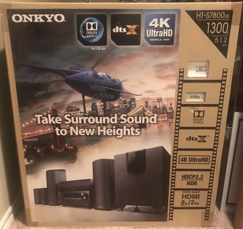 Onkyo HT-S7800 Surround Sound Home Audio Video Receiver Speaker