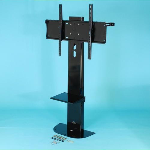 Black Flat Screen Fixed Floor Stand