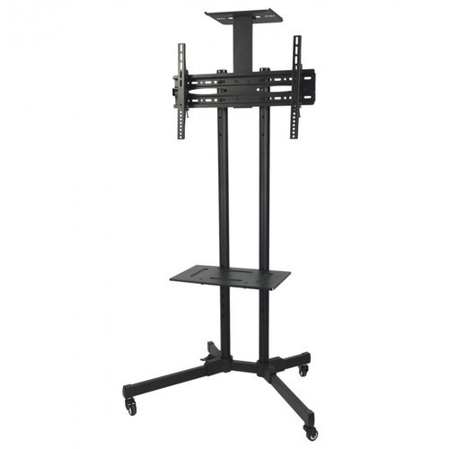 Black Lcd Tv Trolley Stand