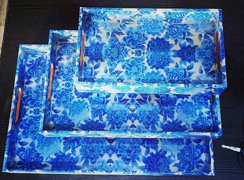 Tea Trays 3 Pcs Sets