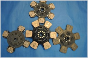 Clutch Plate With Ceramic Buttons
