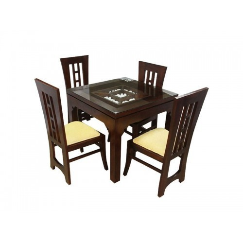 Brown 4 Seater Restaurant Furniture