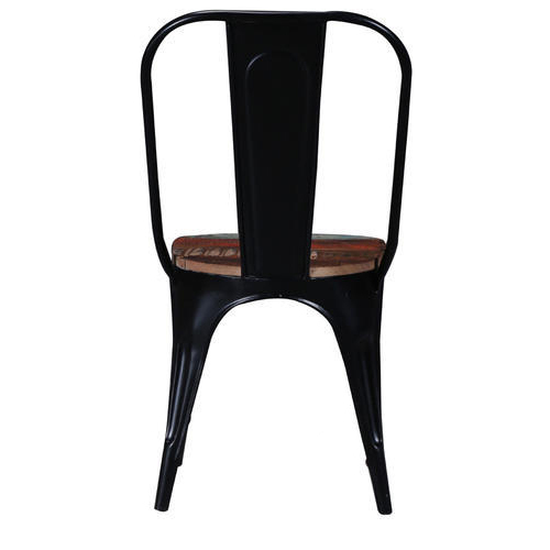 Tolix Chair With Reclaimed Wooden Seat