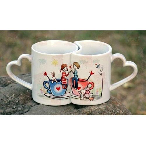 Precisely Designed Couple Printed Mug