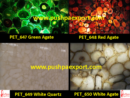 Semi Precious Gava White Agate White Quartz Slab