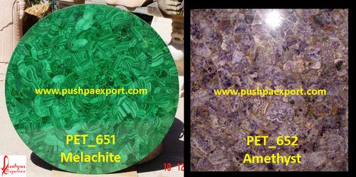 Semi Precious Melachite Amethyst Stone Slab