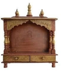 Durable Finish Handicrafts Wooden Temple