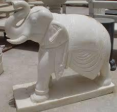 Durable Marble Elephant Statue