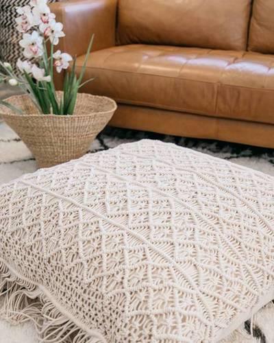 Lovely Macrame Cushion Cover