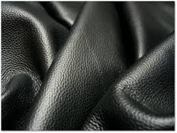 Finished Black Leather Fabric