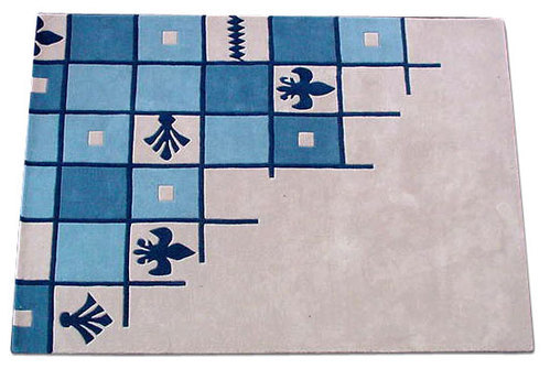 Chessboard Look Hand Tufted Carpets