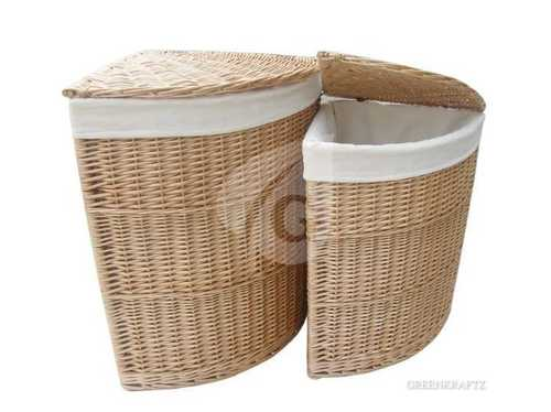 Customized Handmade Willow Dustbins (Corner Bins)