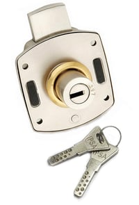 IPSA Armour Wardrobe Furniture Locks with 11 Pin Ultra Key, Thickness Support Up to 36-38mm