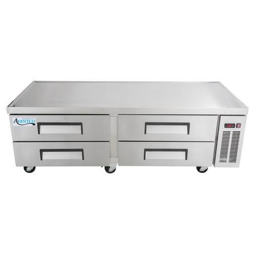"Avantco CBE-72-HC 72"" 4 Drawer Refrigerated Chef Base"