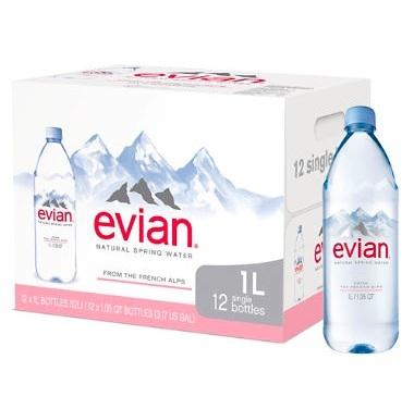 Natural Spring Mineral Water (Evian)