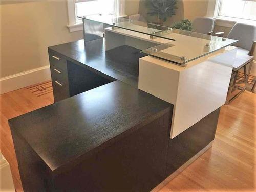 Modular Wooden Office Reception Tables