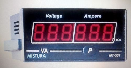 Combined Single Phase Panel Meter (Volt / Amp Meter)