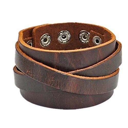 Pure Leather Mens Bracelets