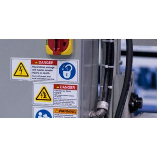 Multi Color Caution Sticker