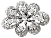 Diamond and Silver Brooch