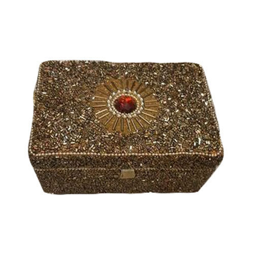 Rectangular Embroidered Jewellery Box