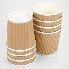 Brown Color Paper Tea Cups