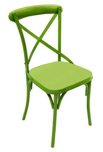 Lime Green X Back Chair