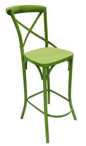 Metal X Back Bar Chair
