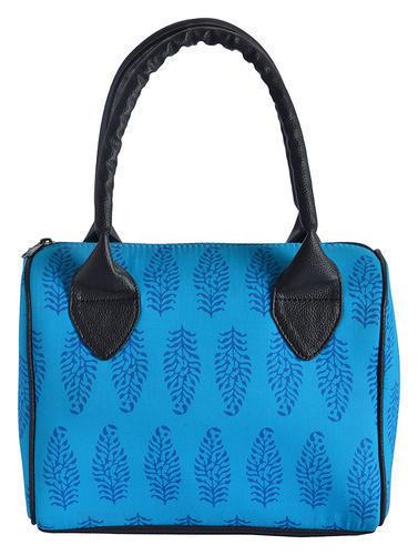 Blue Casual Duffle Handbag For Women