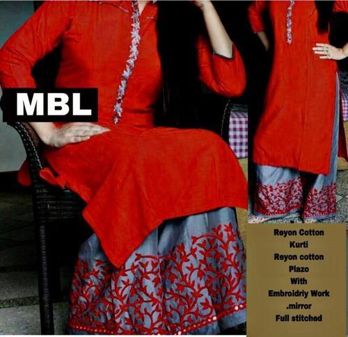 Trendy Rayon Cotton Kurti