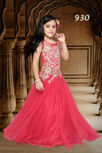 Kids Indian Party Wear Gown for Girls