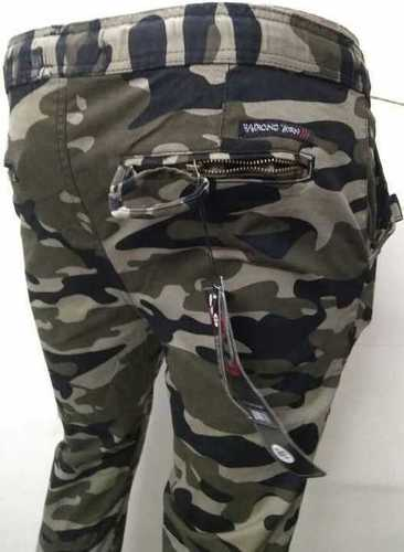 Mens Military Cargo Cotton Pants
