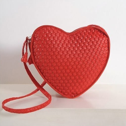 Lush Red Heart Bag Satchel