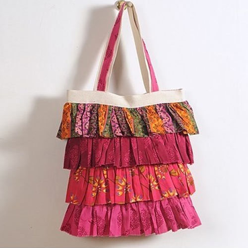 Traditional Red Frilly Bag
