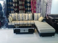 3 Seater and Single Bed Home Sofa Set