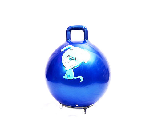 Inflatable Colorful Fitness Jumping Ball With Handle For Children