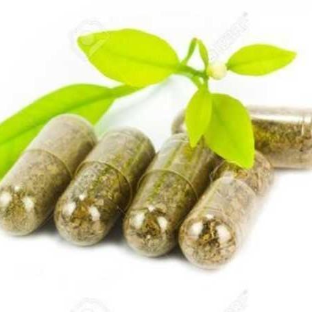 Herbal Medicine Pills With Green Plan