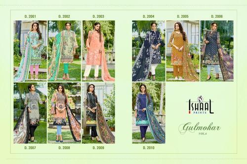 Ishaal Prints Gulmohar Vol 6 Pure Lawn Salwar Suit Fabrics