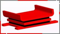 Injection Moulded Modified Elastomeric Pad