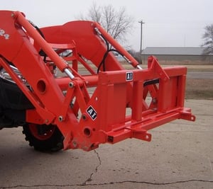 Red Tractor Front Loader