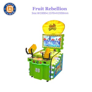 Indoor Coin Operated Fruit Rebellion Redemption Shooting Game