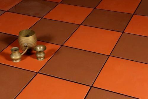 strong terracotta floor tile