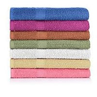 Pure Cotton Colored Bath Towels