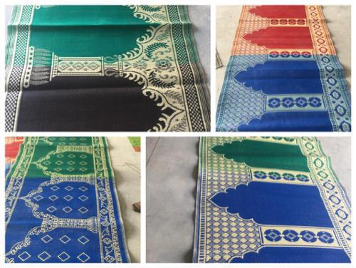 Green Muslim Prayer Mat
