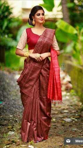 898bf91b25 Fancy Tussar Ghicha Silk Sarees in Ranchi, Jharkhand - Amresh Handloom