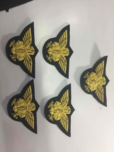 Korean Fireman Embroidered Eagle Badges