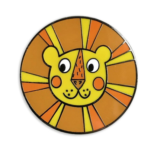 Lion Round Hard Enamel Lapel Pins